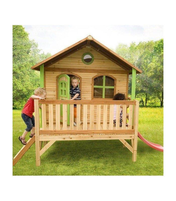 grande maisonnette en bois sur pilotis pour enfant. Black Bedroom Furniture Sets. Home Design Ideas