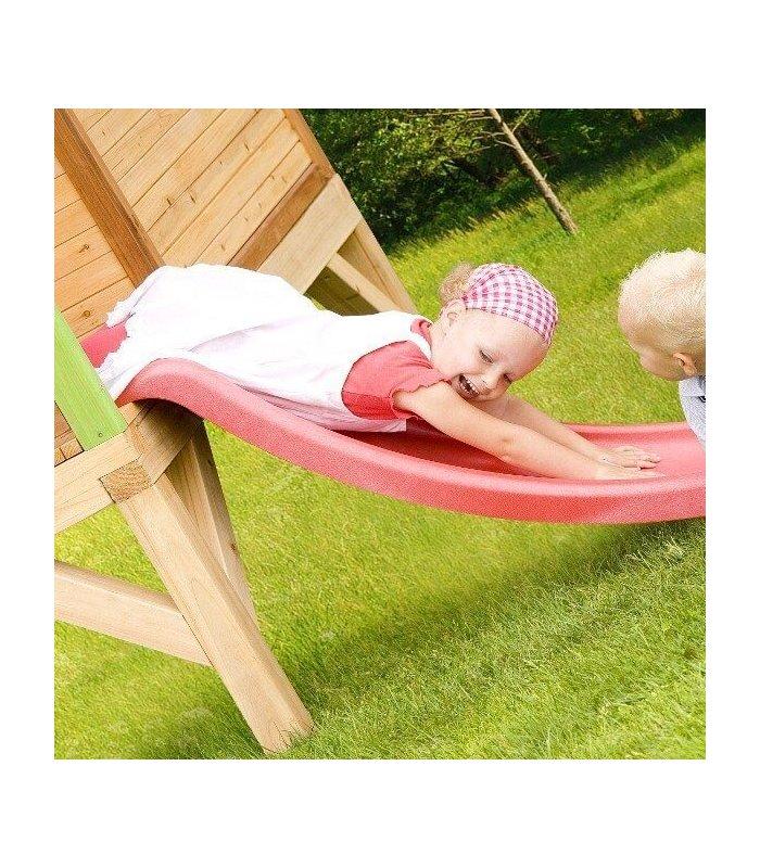 Maisonnette sur pilotis enfant bois naturel - Cabane jardin bois enfant ...