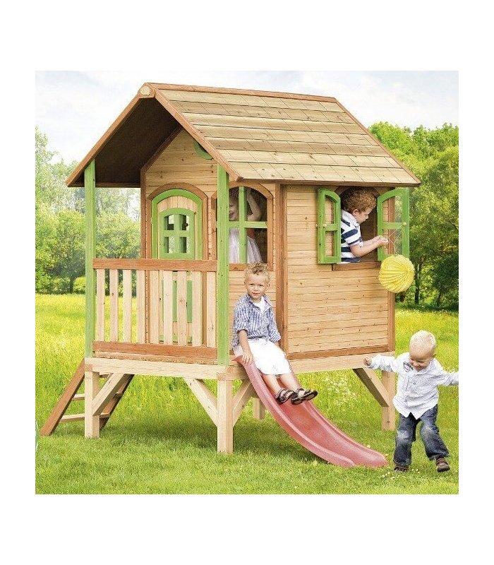 maisonnette sur pilotis enfant bois naturel. Black Bedroom Furniture Sets. Home Design Ideas
