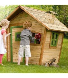 Jardin Maisonnette enfant Alice en bois tropical