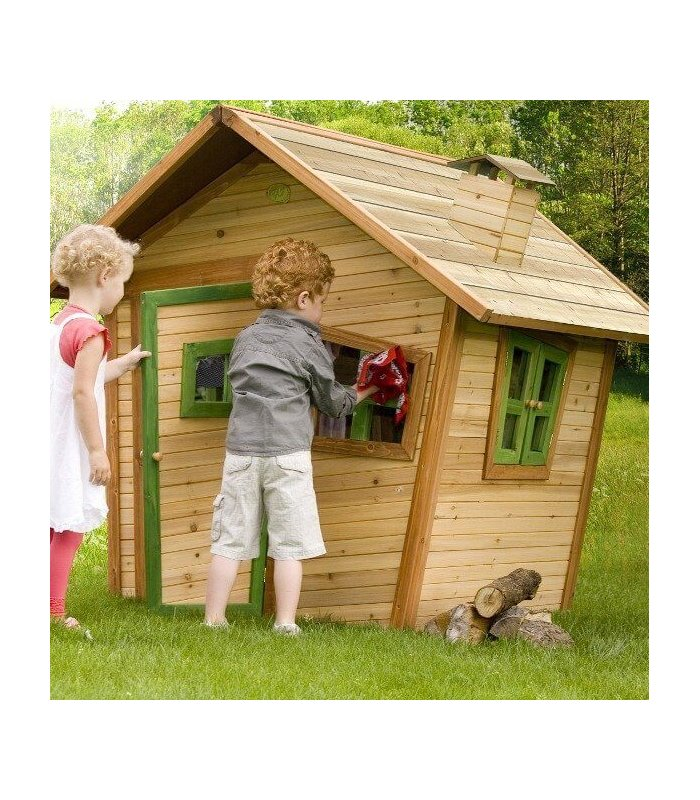 Maisonnette feerique en bois pour enfant for Maisonnette de jardin pour enfant