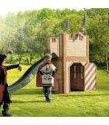 Jardin Chateau fort enfant Arthur en bois tropical