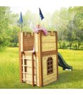 Garden Chateau fort Arthur child in tropical wood