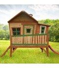 Cabin on stilts child Emma