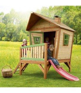 Jardin Maisonnette pilotis enfant Iris en bois tropical