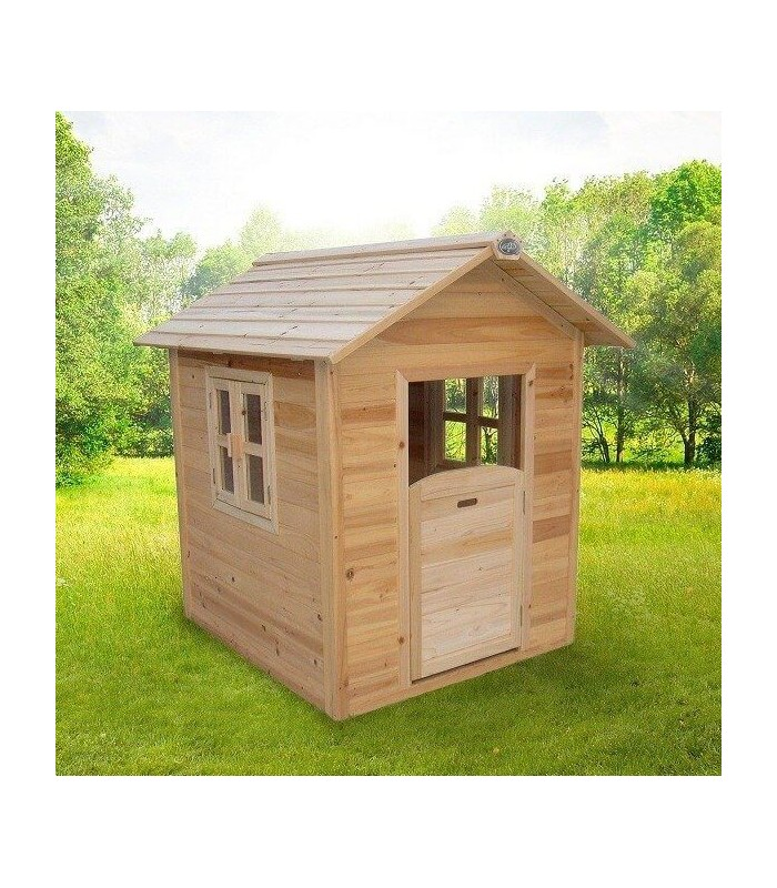 Maisonnette en bois naturel pour enfant noa for Cabane en bois jardin