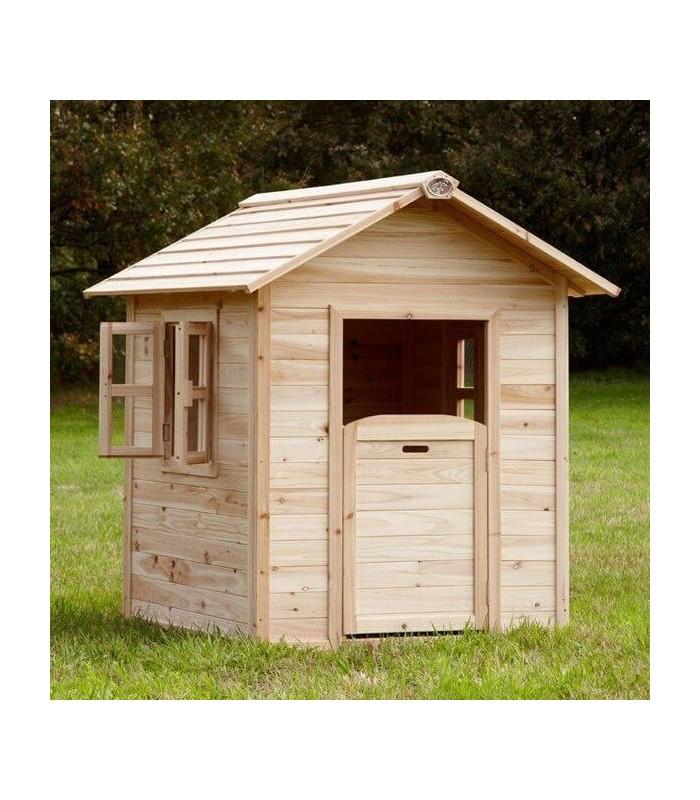 Maisonnette en bois naturel pour enfant noa - Cabane de jardin en bois pour enfants ...