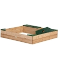 Playground sandbox with Amy storage in exotic wood