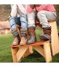 aire de jeux Table et banc pique-nique ZidZed en bois exotique