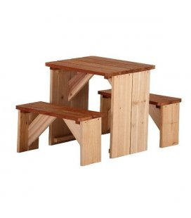 Playground table and bench ZidZed picnic in exotic wood
