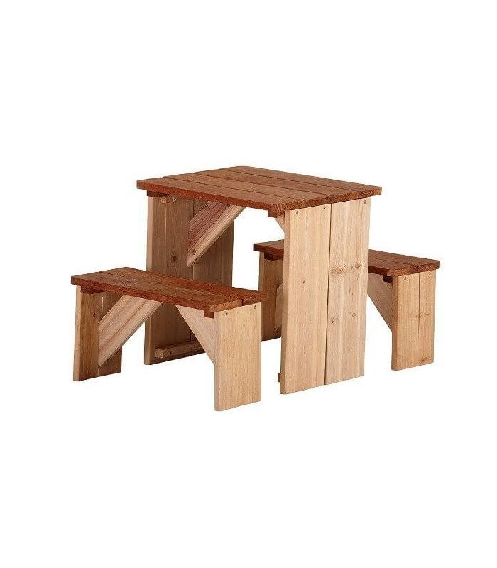 table picknick enfant en bois exotique zidzed. Black Bedroom Furniture Sets. Home Design Ideas