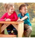 aire de jeux table pique-nique enfant ZidZed XL en bois exotique