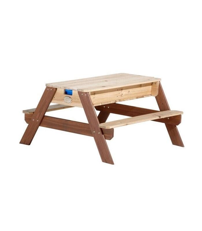 Table de jeu en bois pique nique jouer au sable et l for Stores de bambou en plein air ikea