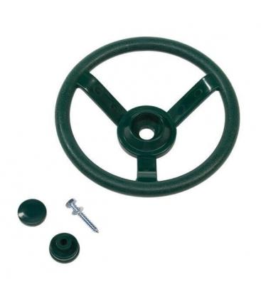 accessoire roue volant vert pour maisonnette bois axi