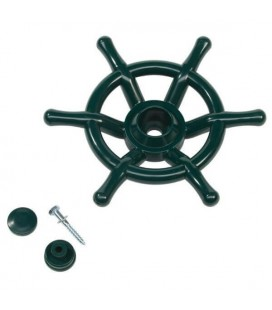 green boat wheel accessory for axi wooden house