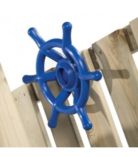 blue boat wheel accessory for axi wooden house