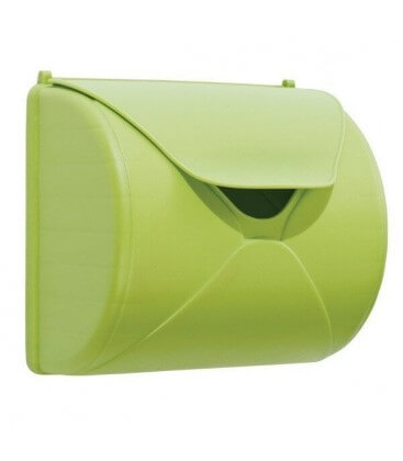 lemon green mailbox accessory for log cabin wood axi