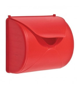 accessory mailbox red for log cabin wood axi