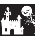 accessoire drapeau-chateau spooky pour maisonnette bois axi