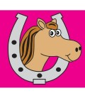 accessoire drapeau motif cheval pour maisonnette bois axi