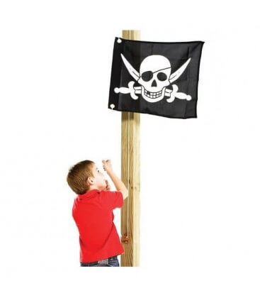 accessoire drapeau pour maisonnette bois axi