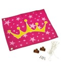 princess-flag accessory for log cabin wood axi