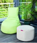 Outbag Slope outdoor pouf fabric fabric and fabric-plus lime