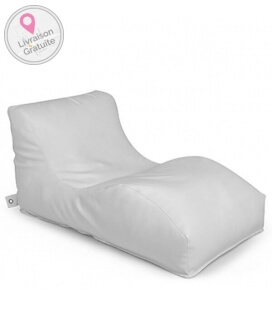 Outbag Wave sofa de plein air Cuir texture light - blanc