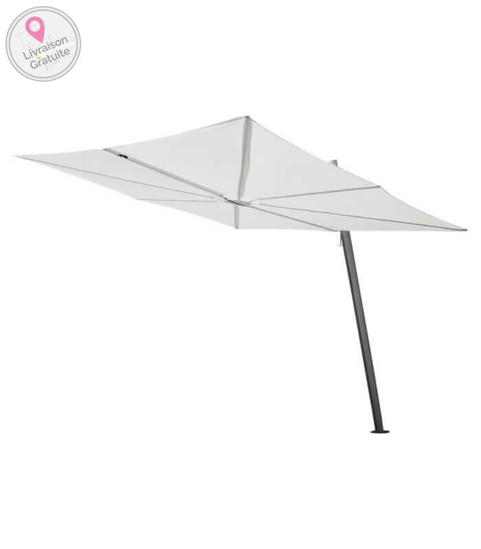 parasol d port spectra carr 300cm de c t en aluminium. Black Bedroom Furniture Sets. Home Design Ideas