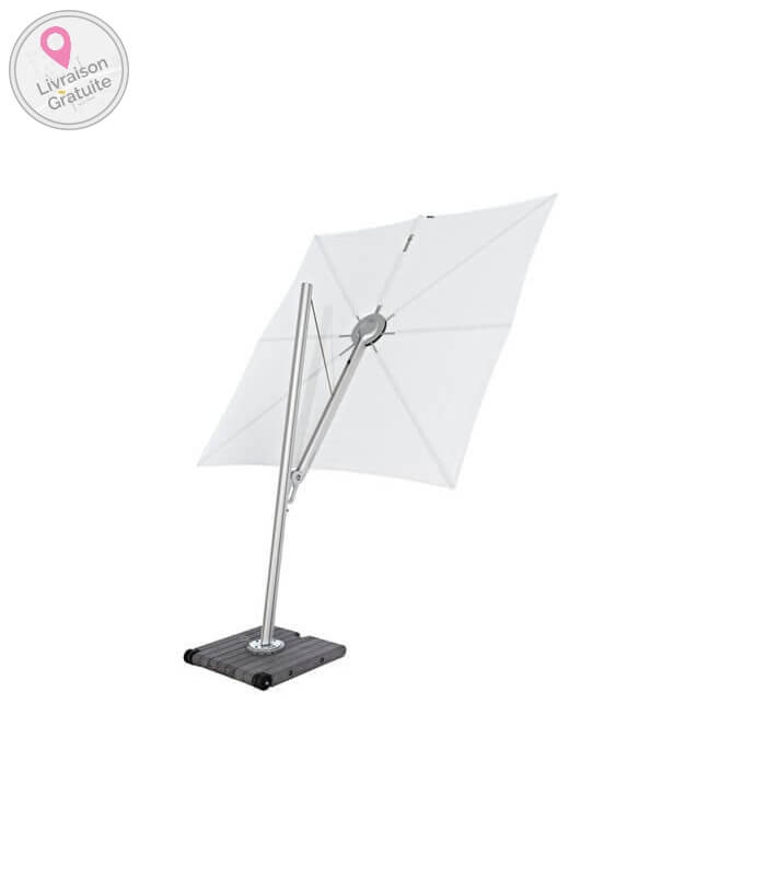 parasol d port spectra carr 300cm de c t en aluminium. Black Bedroom Furniture Sets. Home Design Ideas