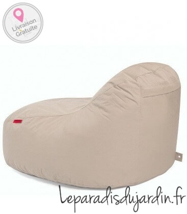 outbag Slope XL outdoor pouf fabric beige color