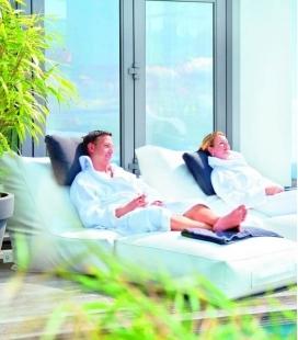 Cuir deluxe Wave outdoor fabric Sofa coloris blanc