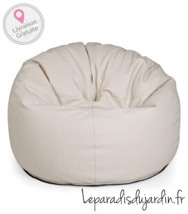 leather Outbag Donut Leather Ivory color
