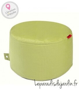 fabric Fabric-Plus Rock pouf traditional fabric color lime green