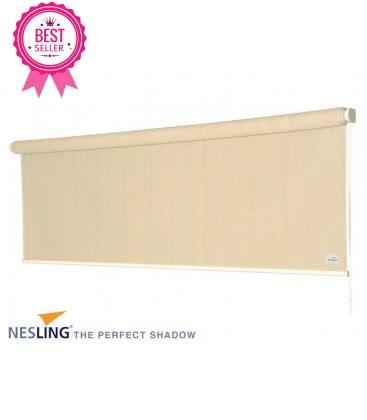 Vertical awning Nesling hdpe outdoor pergola color: porcelain cream