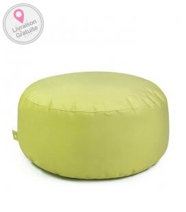 tissu Fabric-plus Cake pouf rond outbag coloris lime