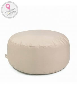tissu Fabric-plus Cake pouf rond outbag coloris beige