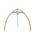 Wooden tripod for suspended hammock Cacoon alone