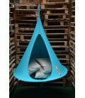 Small Hanging Hammock Tent Cacoon Bonsai color Turquoise blue
