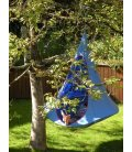Medium armchair Hanging hammock Tent Cacoon Single color Blue