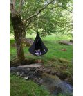 Medium armchair Hanging hammock Tent Cacoon Single color Black