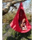 Medium armchair Hanging hammock tent Cacoon Single color Red Chili