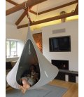 Large Hanging Hammock Tent Double Cacoon Light Gray