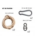 Standard kit of fixation for hammocks