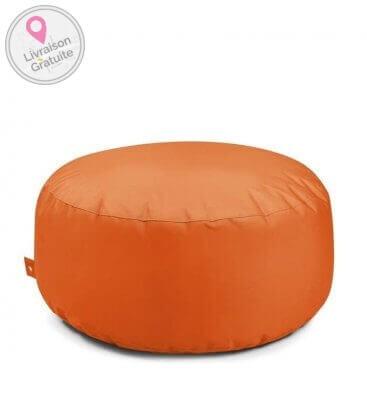 outdoor poufCake round pouf outbag color orange