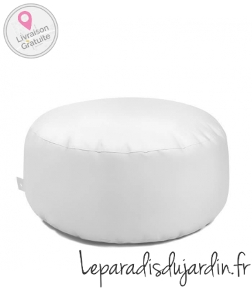 Cake pouf round leather bag