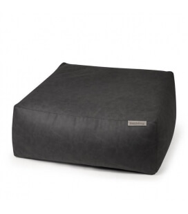 Easy leather interior pouf