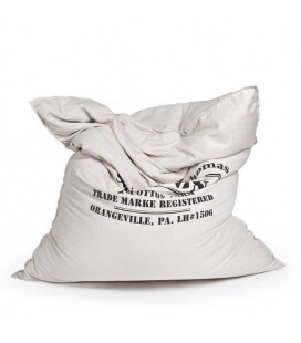 Classic Canvas Cotton indoor pouf