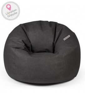 Internal Toby leather pouf