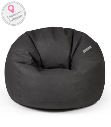 Toby leather interior pouf